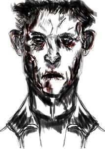 grumpy portrait